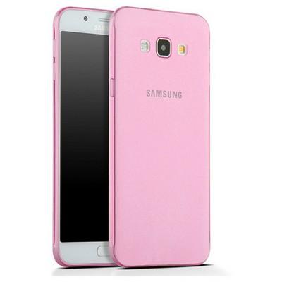 Microsonic Samsung Galaxy A8 Kılıf Transparent Soft Pembe Cep Telefonu Kılıfı