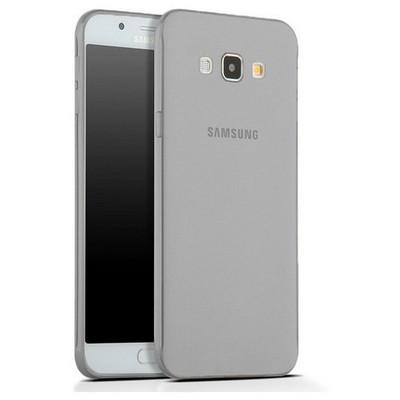 Microsonic Samsung Galaxy A8 Kılıf Transparent Soft Siyah Cep Telefonu Kılıfı