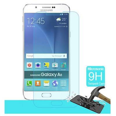 Microsonic Samsung Galaxy A8 Temperli Cam Ekran Koruyucu Kırılmaz Film Ekran Koruyucu Film