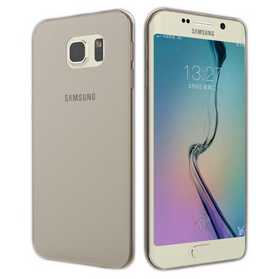 Microsonic Samsung Galaxy S6 Edge+ Plus Kılıf Transparent Soft Siyah Cep Telefonu Kılıfı