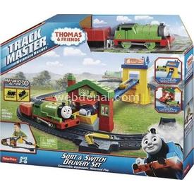 """Fisher-price Thomas Friends Percy""""nin Posta Dağıtımı Oyun Seti Erkek Çocuk Oyuncakları"""