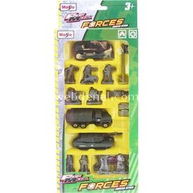 Maisto M.f Askeri Araç Ve Figür Seti 16 Parça Model 1 Erkek Çocuk Oyuncakları