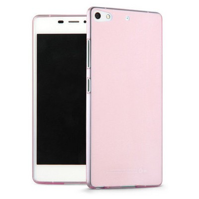 Microsonic General Mobile Discovery Elite Plus Kılıf Transparent Soft Pembe Cep Telefonu Kılıfı