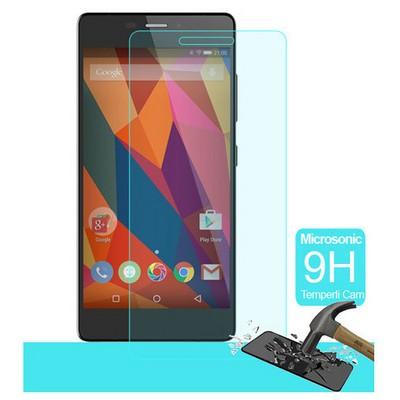 Microsonic General Mobile Discovery Elite Plus Temperli Cam Ekran Koruyucu Kırılmaz Film Ekran Koruyucu Film