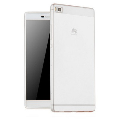 Microsonic Huawei Ascend P8 Max Kılıf Transparent Soft Beyaz Cep Telefonu Kılıfı