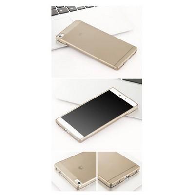 Microsonic Huawei Ascend P8 Max Kılıf Transparent Soft Siyah Cep Telefonu Kılıfı