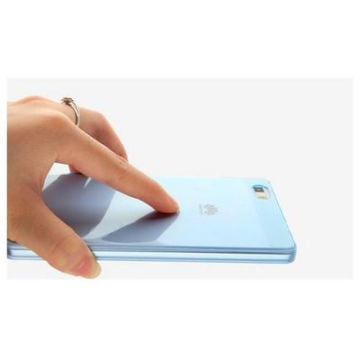 Microsonic Huawei Ascend P8 Lite Kılıf Transparent Soft Mavi Cep Telefonu Kılıfı