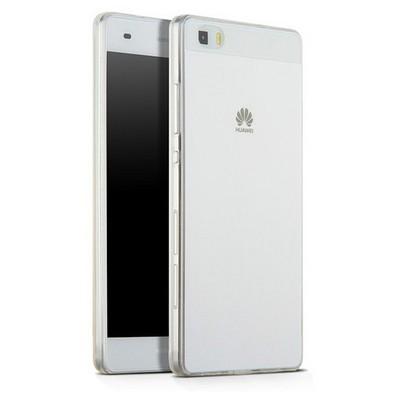 Microsonic Huawei Ascend P8 Lite Kılıf Transparent Soft Beyaz Cep Telefonu Kılıfı