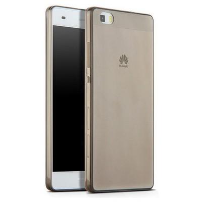 Microsonic Huawei Ascend P8 Lite Kılıf Transparent Soft Siyah Cep Telefonu Kılıfı