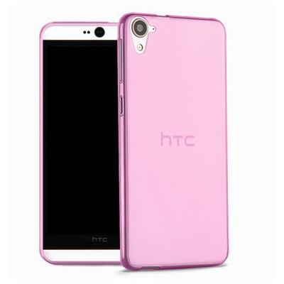Microsonic Htc Desire 826 Kılıf Transparent Soft Pembe Cep Telefonu Kılıfı