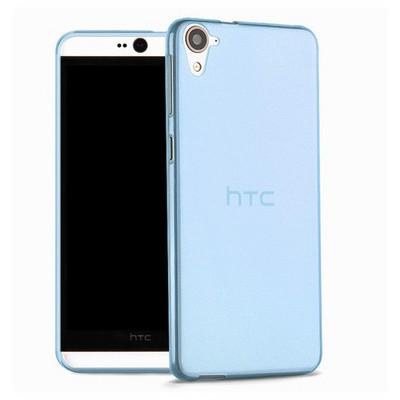 Microsonic Htc Desire 826 Kılıf Transparent Soft Mavi Cep Telefonu Kılıfı