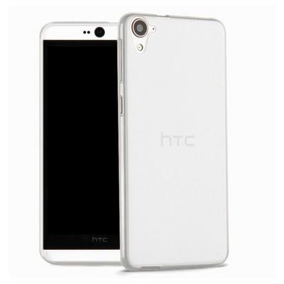Microsonic Htc Desire 826 Kılıf Transparent Soft Beyaz Cep Telefonu Kılıfı