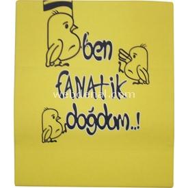 Özge Mini Pop Özge Minipop 3812 Penye Bebek Battaniyesi Sarı-lacivert Yorgan