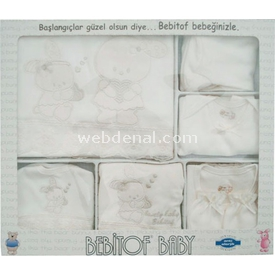 bebitof-644-bebek-hastane-cikisi-10lu-set-krem-0-3-ay-56-62-cm