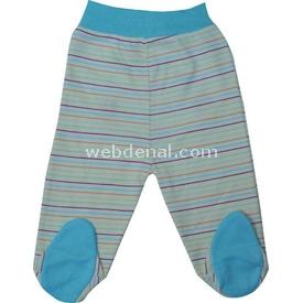 Sebi Bebe 52040 Popo Nakışlı Pantolon Turkuaz 0 Ay (50-56 Cm) Pantolon & Şort