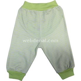 Sebi Bebe 52040 Popo Nakışlı Pantolon Yeşil 0-3 Ay (56-62 Cm) Pantolon & Şort