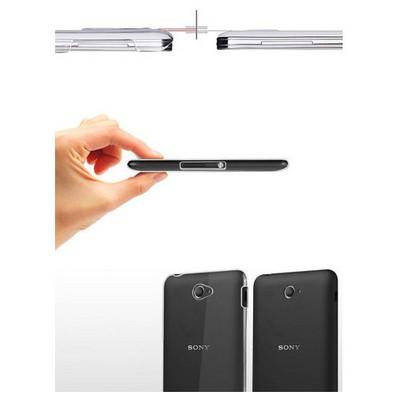 Microsonic Sony Xperia E4 5.0'' Kılıf Kristal Şeffaf Cep Telefonu Kılıfı