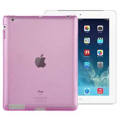 Microsonic Ipad 2 & 3 & 4 Kılıf Transparent Soft Pembe Tablet Kılıfı