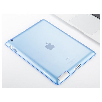 Microsonic Ipad 2 & 3 & 4 Kılıf Transparent Soft Mavi Tablet Kılıfı
