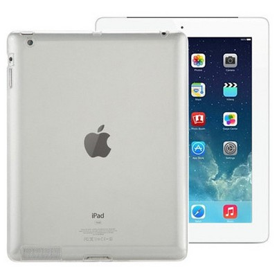 Microsonic Ipad 2 & 3 & 4 Kılıf Transparent Soft Beyaz Tablet Kılıfı