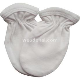 Sebi Bebe 51002 Penye Bebek Eldiveni Beyaz Eldiven & Atkı