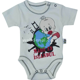 Babycool 2048 Made In Istanbul Kısakol Body Krem 9-12 Ay (74-80 Cm) Kız Bebek Body