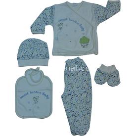 Tonton 200 Balonlu Hastane Çıkışı 5li Set Krem-yeşil Erkek Bebek Hastane Çıkışı