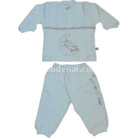 Minidamla 41793 Arılı Bebek Takımı Ekru 6-9 Ay (68-74 Cm) Erkek Bebek Takım