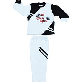 Özge Mini Pop Özge Minipop 28007 Ben Fanatik Doğdum 2li Bebek Takımı Bjk 2 Yaş (92 Cm) Erkek Bebek Takım