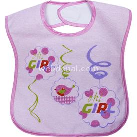 Sevi Bebe 12017 Havlu Cırtlı Mama Önlüğü Pembe Bebek Besleme