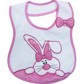 Sevi Bebe 12071 Yandan Cırtlı Mama Önlüğü Tavşan Bebek Besleme