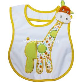 Sevi Bebe 12071 Yandan Cırtlı Mama Önlüğü Zürafa Bebek Besleme