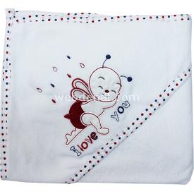Minidamla 4189 Bebek Banyo Havlusu Kırmızı Havlu & Bornoz