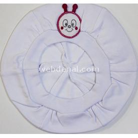 Minidamla Mini Damla 41119 Hayvan Figürlü Bebek Beresi Beyaz-pembe Şapka, Bere, Kulaklık
