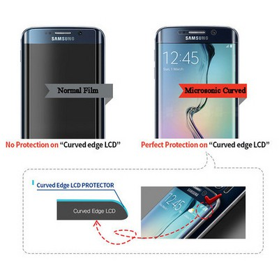 Microsonic Samsung Galaxy S6 Edge+ Plus Ön + Arka Tam Ekran Kaplayıcı Film Kavisler Dahil Ekran Koruyucu Film