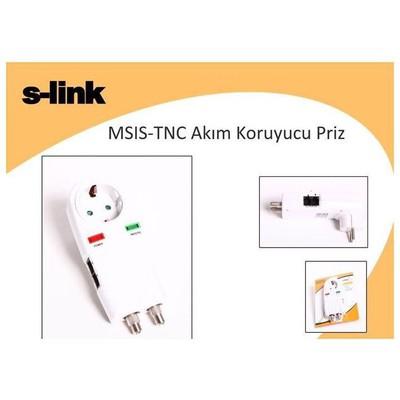 S-Link Msıs-tnc Akım Korumalı Grup Priz. 0 Tv, Uydu, Tnc, Telefon Hattı Çıkışlı. Akım Korumalı Priz