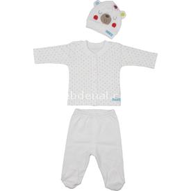 Bebepan 1626 Mrs Cream Bebek Pijama Takımı Krem 9-12 Ay (74-80 Cm) Kız Bebek Pijaması