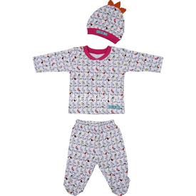 Bebepan 1670 Tropical Bebek Pijama Takımı Desenli 0 Ay (50-56 Cm) Kız Bebek Pijaması