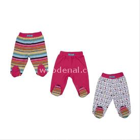 Bebepan 1675 Tropical 3lü Patikli Pantolon Desenli 3-6 Ay (62-68 Cm) Pantolon & Şort