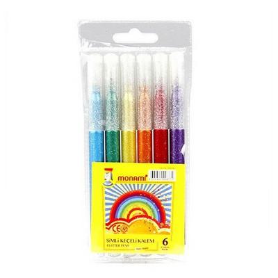 Monami Simli Keçeli Kalem 6 Renk Resim Malzemeleri