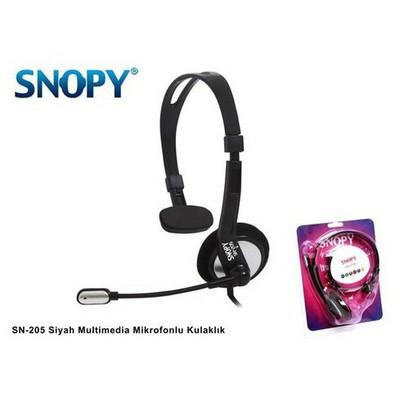 Snopy Sn-205 Siyah Multimedia Mikrofonlu Kulaklık Kafa Bantlı Kulaklık