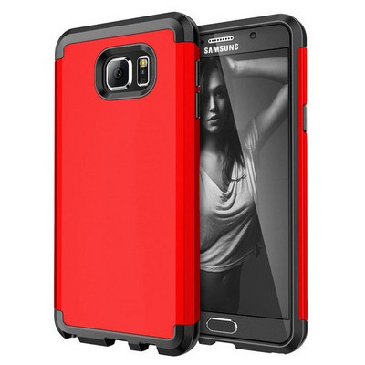 Microsonic Samsung Galaxy Note 5 Kılıf Slim Fit Dual Layer Armor Kırmızı Cep Telefonu Kılıfı