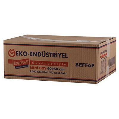 Koroplast Endüstriyel Çöp Poşeti Mini Boy 40x50 Cm 1 Koli 40 Adet Çöp Torbaları