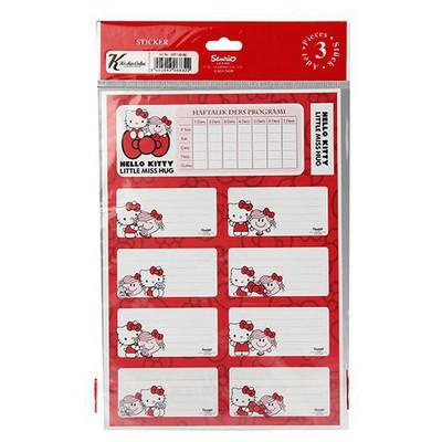 Keskin Color Hello Kitty Ders Programlı 3'lü Etiket Okul Etiketleri