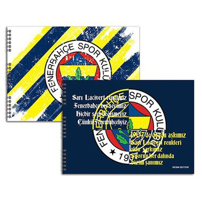 Keskin Color Resim Defteri Fenerbahçe 35 x 50 cm 15 Yaprak Fenerbahçe Ürünleri