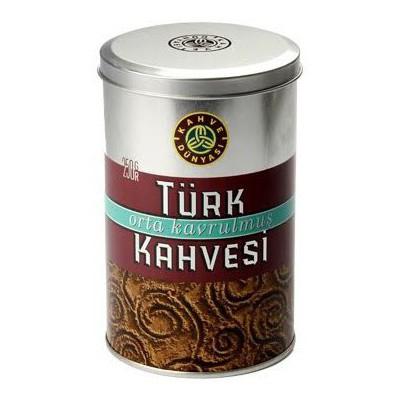 Kahve Dünyasi Türk si Orta Kavrulmuş Teneke 250 G Kahve