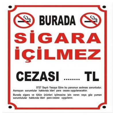 İş Koruma Burada Sigara Içilmez 25 X 35 Cm Bilgilendirme Levhası