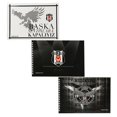 Keskin Color 17x25 Beşiktaş Resim Defteri 15 Yaprak Beşiktaş Ürünleri