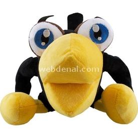 Necotoys Kara Karga Süper Soft Velboa 30 Cm Peluş Oyuncaklar