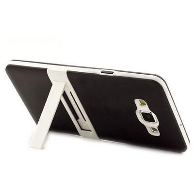 Microsonic Samsung Galaxy A7 Kılıf Standlı Soft Siyah Cep Telefonu Kılıfı